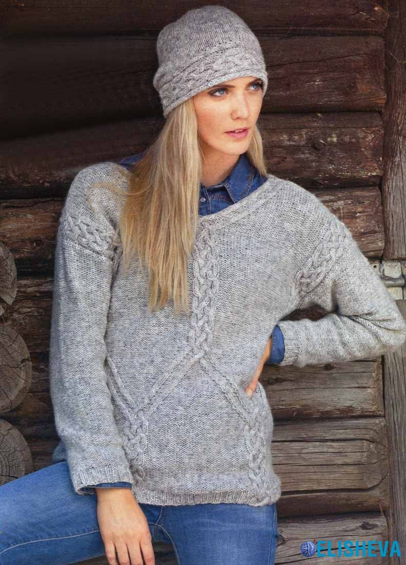 Вязание аранов для пуловера 52
