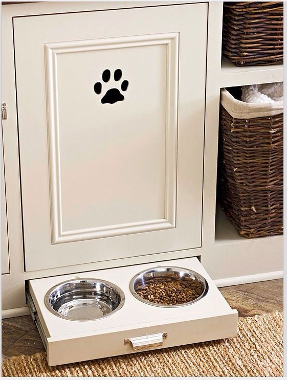 Under Cabinet Dog Bowls   Stow Away