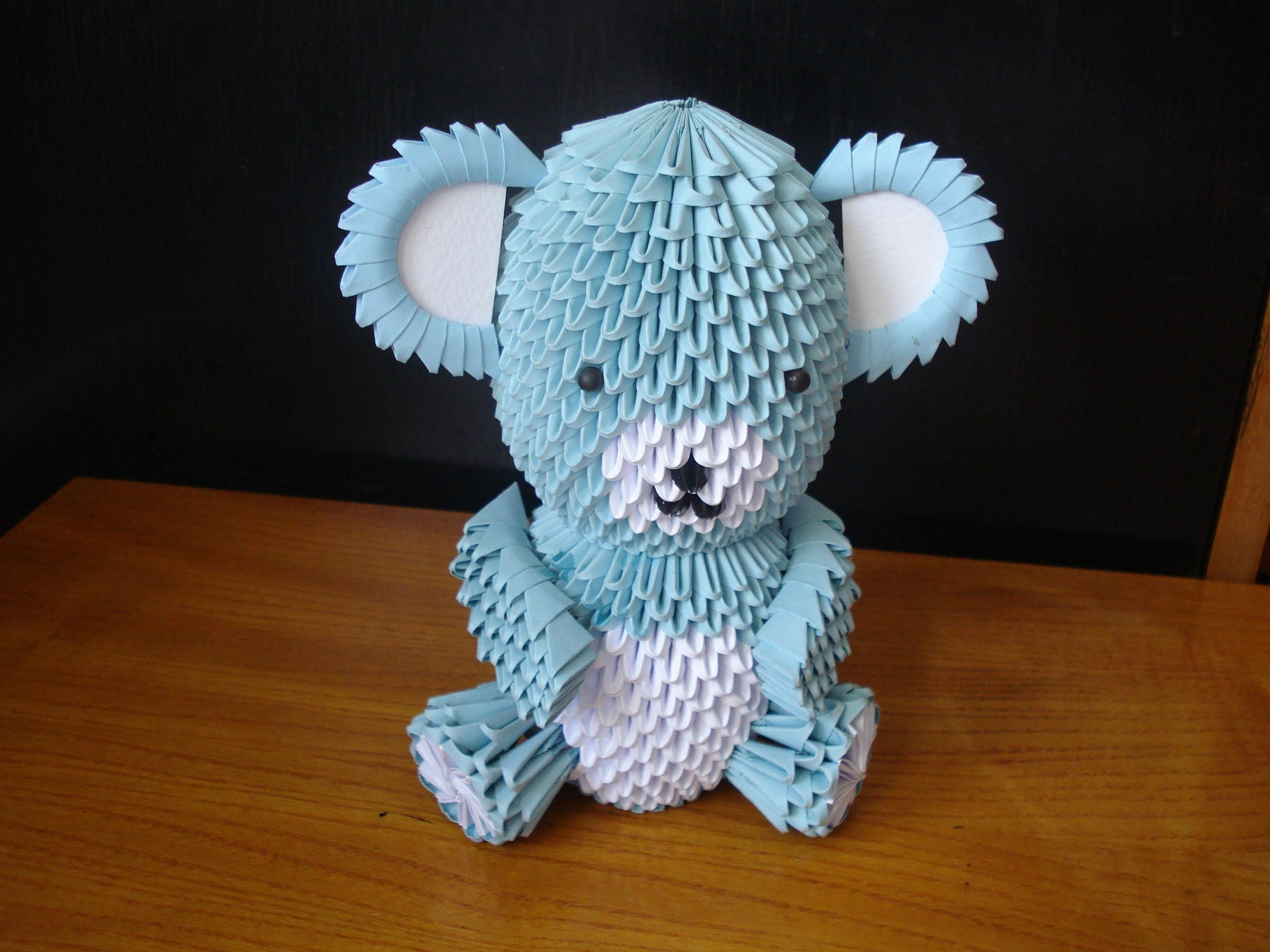3D Origami Teddy Bear Tutorial - Part 1 | things to make ... - photo#10