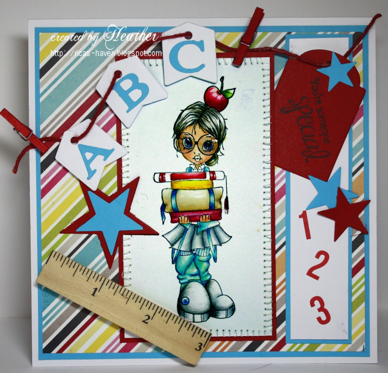 Created by Heather for the Simon Says Stamp Wednesday challenge (Back to School) August 2014