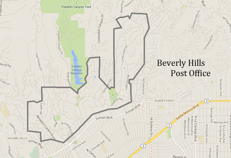 Map of Beverly Hills Post Office http//www.desireelapin
