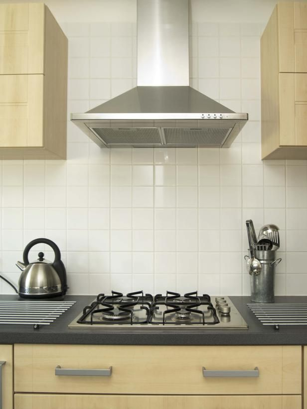 Range Hood or Exhaust fan in attractive commercial kitchen style ...