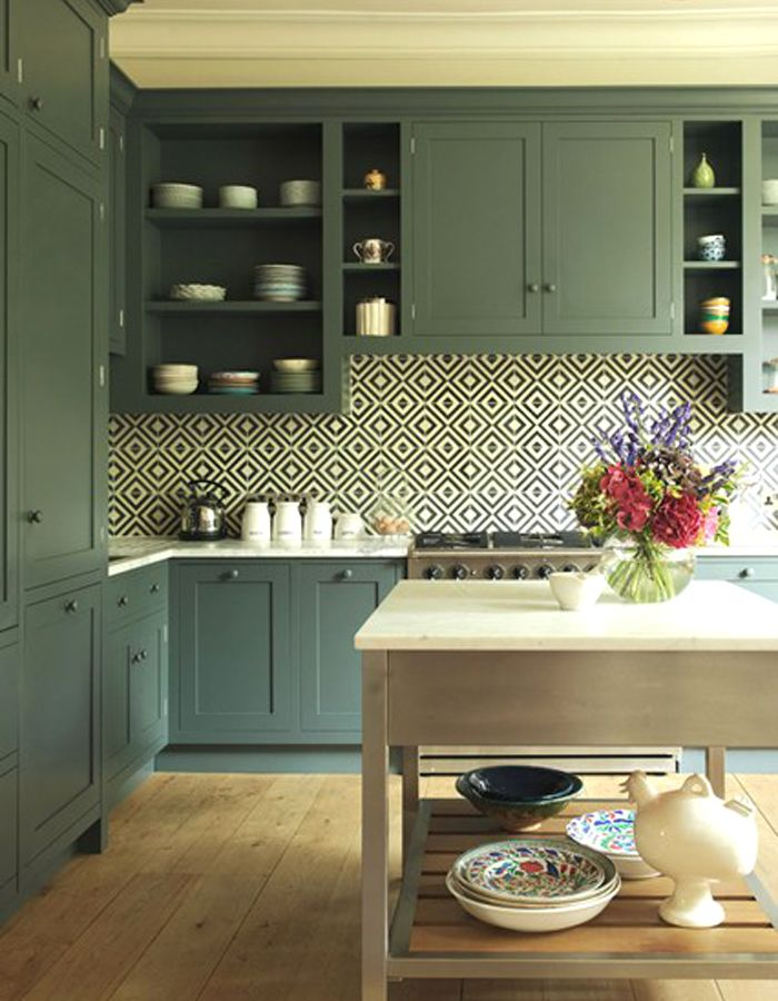 patterned tile kitchen - Google Search | Modern Victorian Kitchen ...