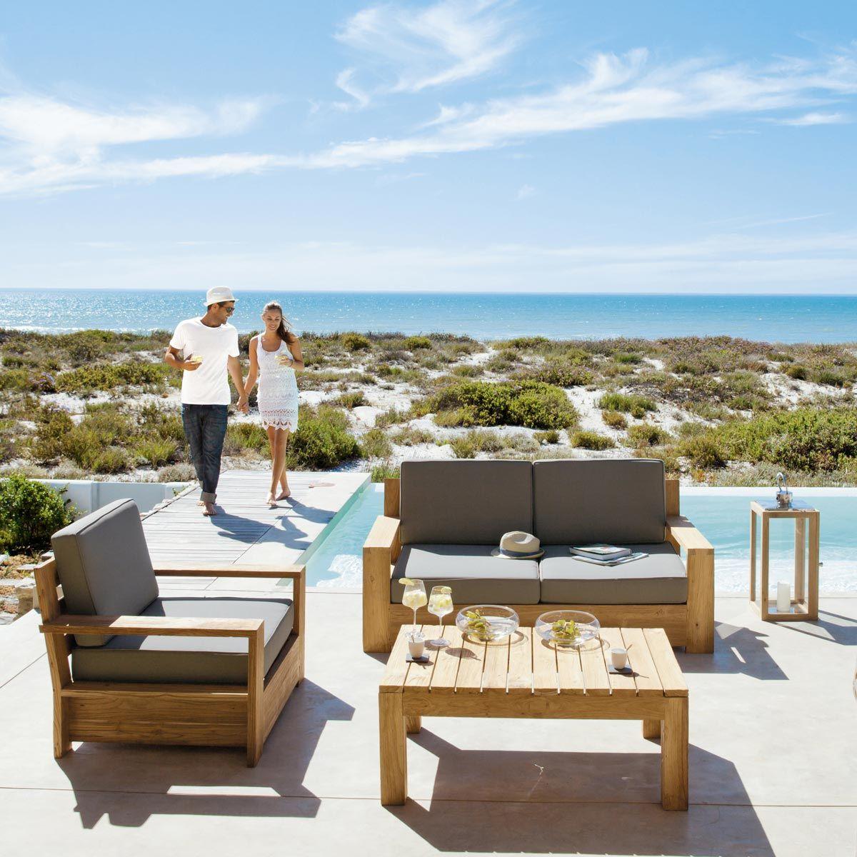 fauteuil de jardin en teck meubles jardin pinterest jardins banquette jardin et fauteuil. Black Bedroom Furniture Sets. Home Design Ideas