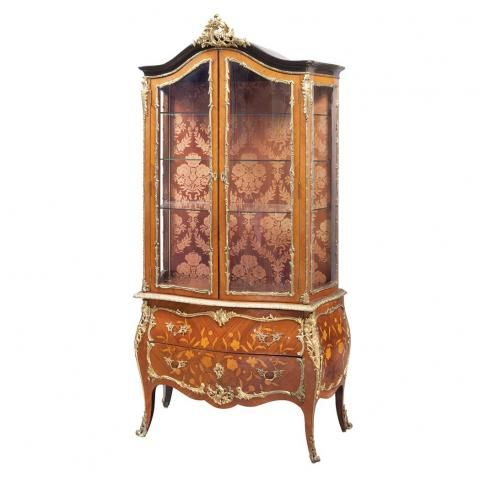 Louis XV Style Gilt-Metal Mounted Marquetry Inlaid Kingwood Vitrine for Sale at Auction on Wed, 02/06/2013 - 07:00 - Belle Epoque: 19th & 20th Century Decorative Arts   Doyle Auction House