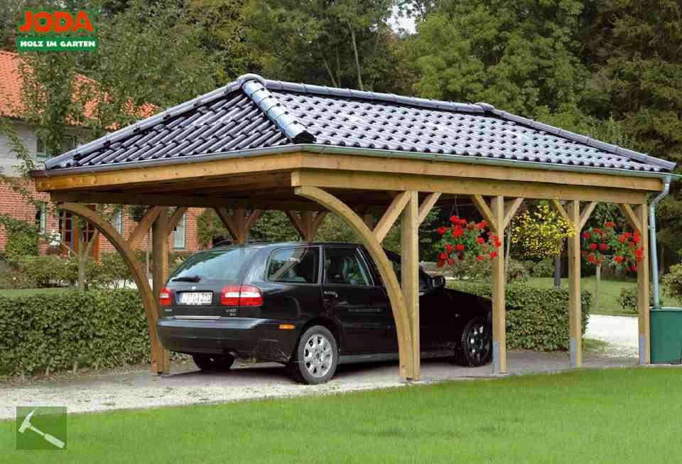 Carport Holz Ueberberg Joda 006 Goruntuler Ile Evler