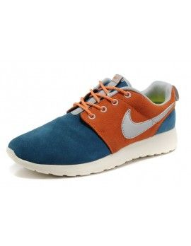 Pre Order Nike Roshe Run Suede Mens Cyan Orange Couple