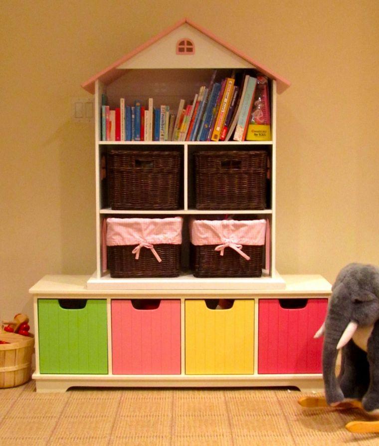 Estanterías para habitaciones infantiles - 50 ideas geniales ...