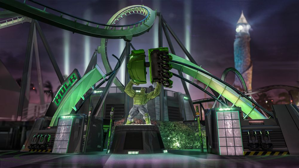 The Incredible Hulk Entrance Universal Orlando