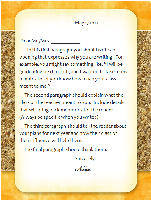 Teacher appreciation letter | Teacher Gifts | Pinterest