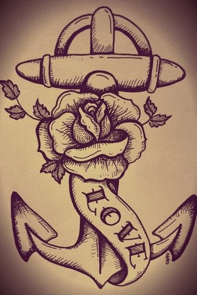 54de3d27f anchor and rose tattoos | Anchor, rose tattoo | they call it ART ...