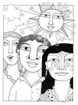 Maestra Erika Valecillo Murales Sobre La Resistencia Indigena