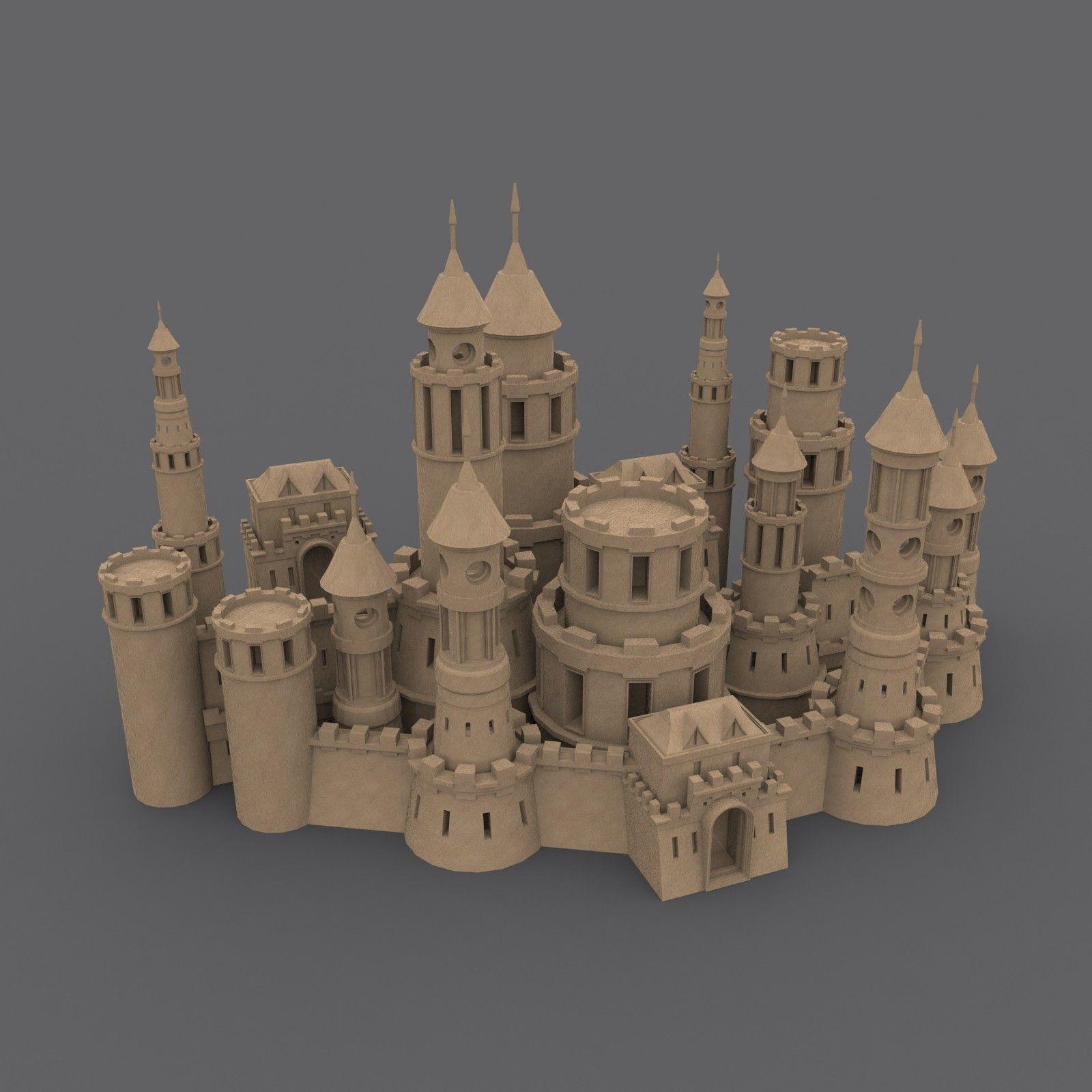 3d model castle medieval | playroom idea/toys | Model castle