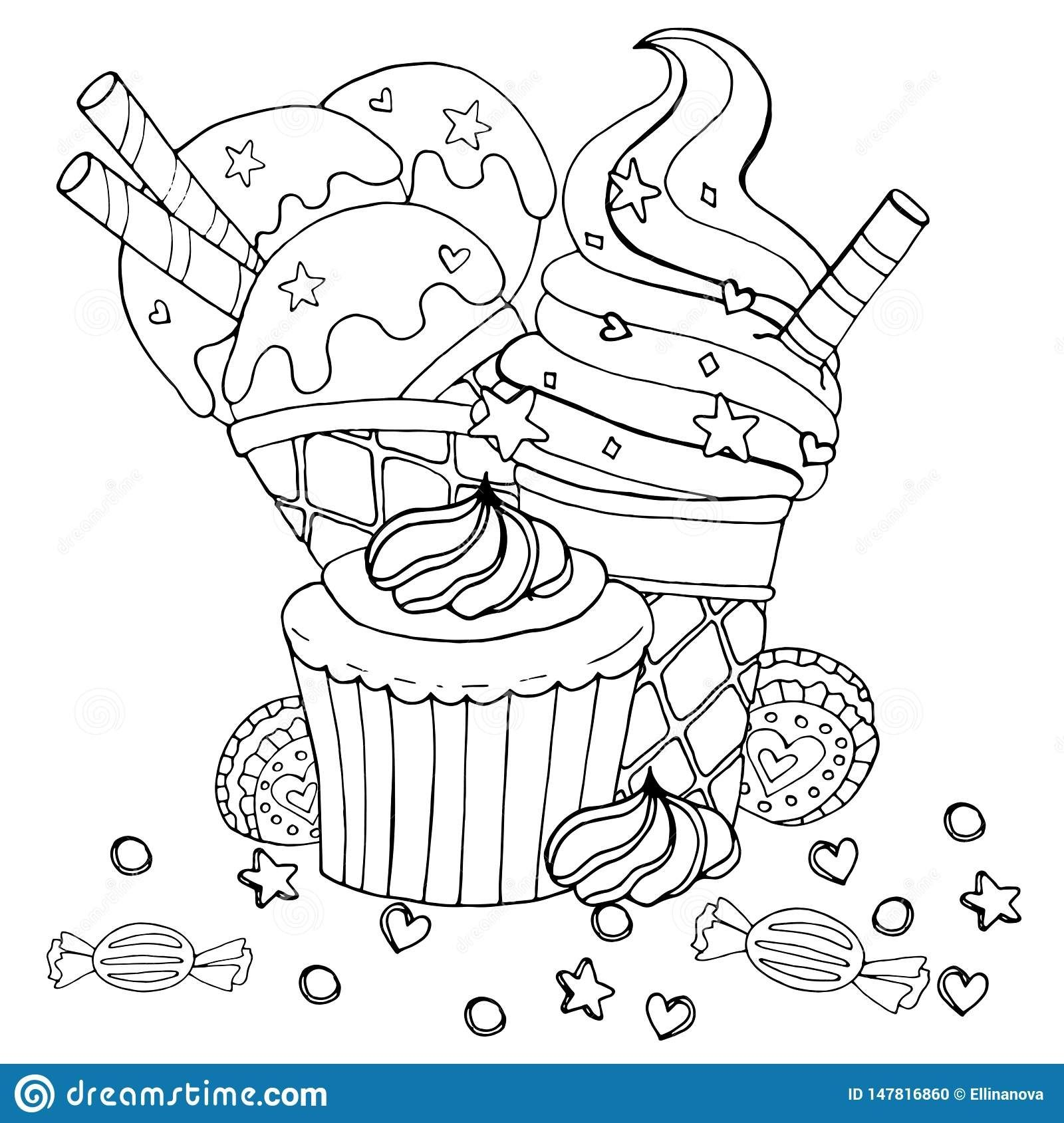 Dessert Coloring Pages Easy To Color Candy Coloring Pages Cupcake Coloring Pages Coloring Pages Winter
