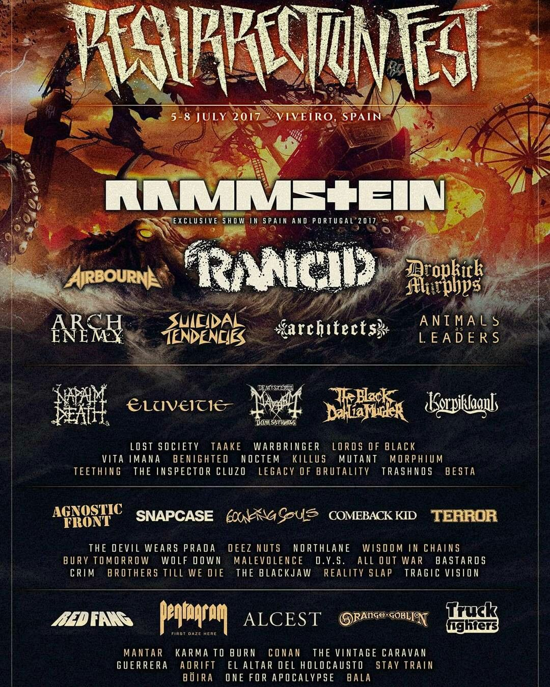 Rammstein To Headline Resurrection Fest 2017 Check Out All The Great Banda Announced Muziek