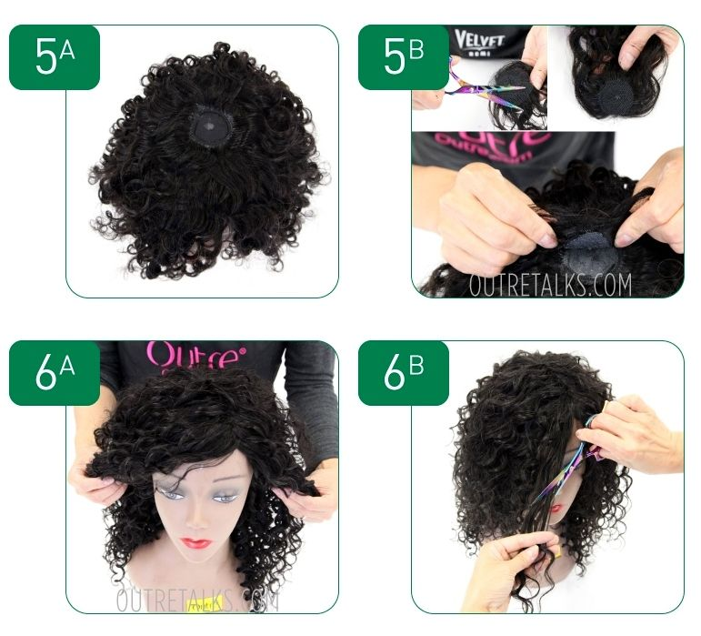 How To Make A Wig Steps 5 6 Wig Making Pinterest Wig Hair