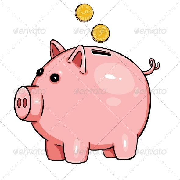 Cartoon Piggy Bank Piggy Bank Piggy Cartoon