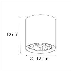 Photo of Design ceiling spot / ceiling spot / white cylinder incl.LED – impact-up G9 design, modern G9 I