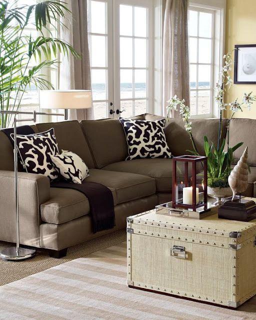 Falling For Brown Decor Coastal Living RoomsLiving Room