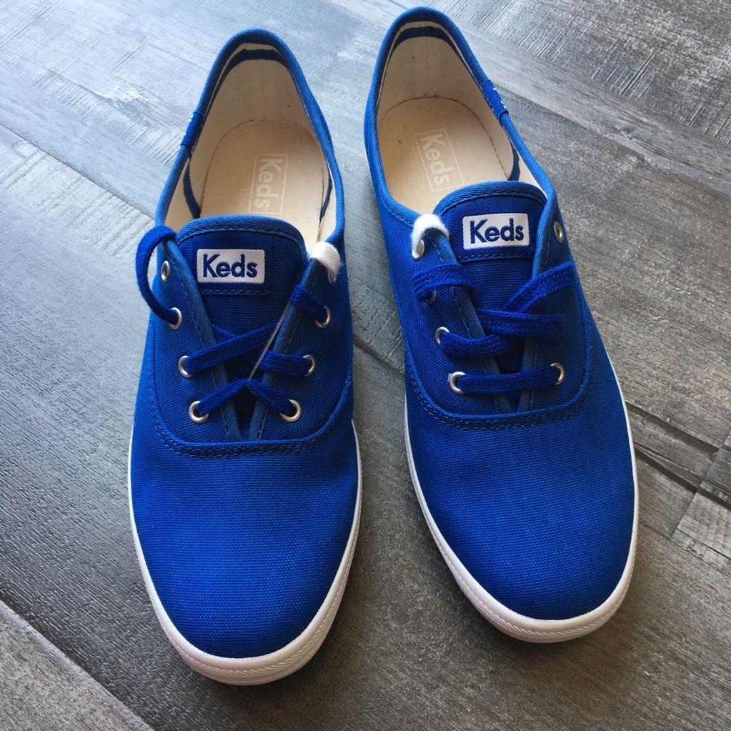 Ladies KEDS blue dream foam sneakers in