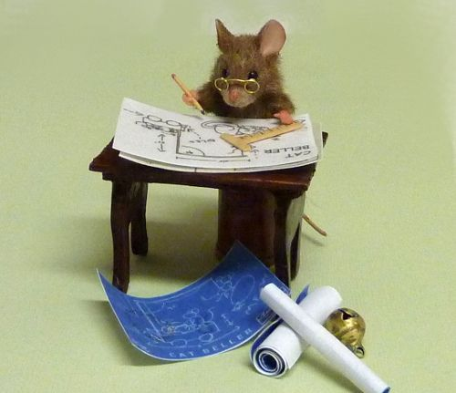 Daddy Mouse for 1/2 scale dollhouse  by Mini Menagerie on Flickr.