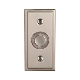 Charming Shop Utilitech Satin Nickel Wired Push Button With LED Lighted Insert At  Loweu0027s Canada. Find Our Selection Of Doorbells At The Lowest Price  Guaranteed With ...