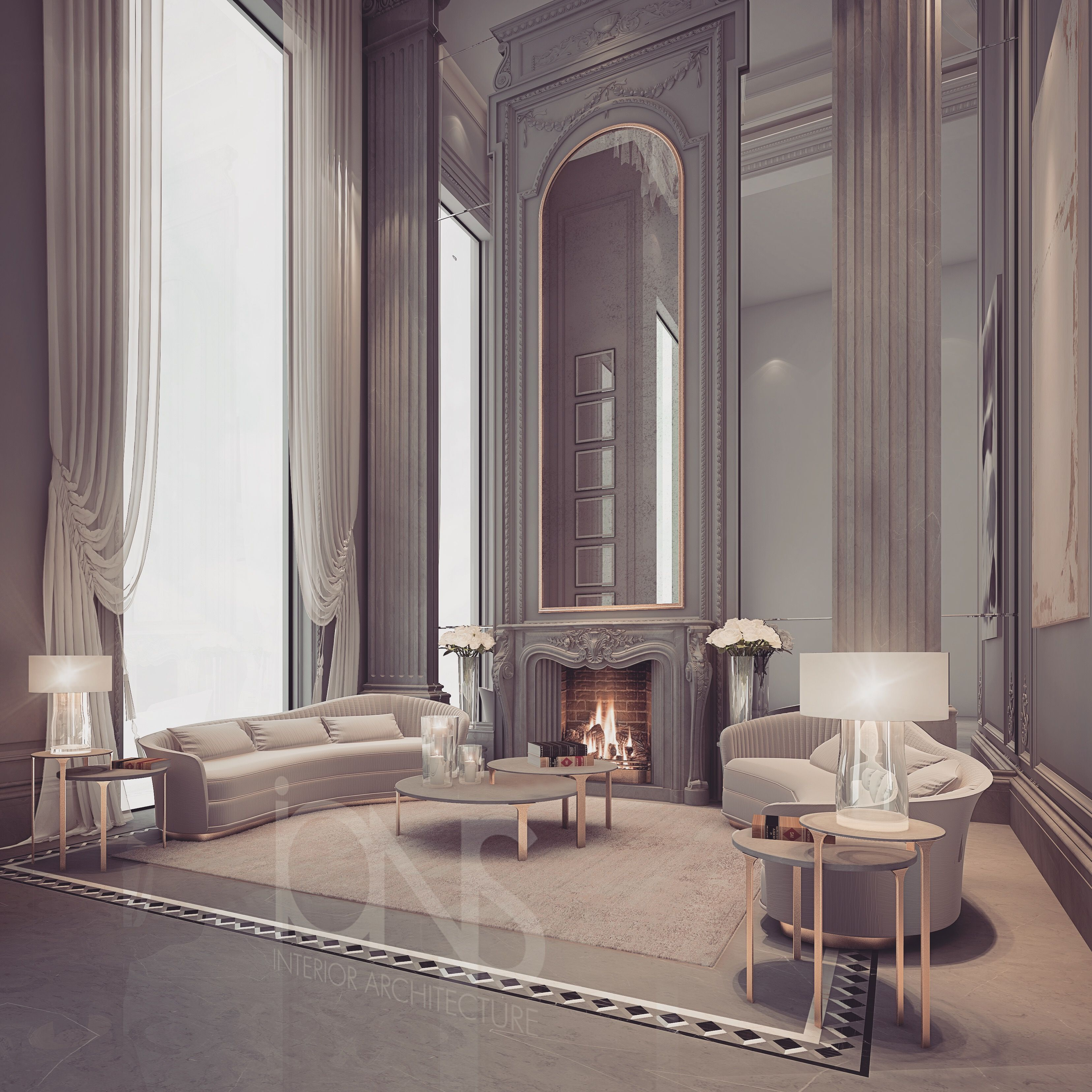 Luxury Residence By Dallas Design: Lounge Design - Abu Dhabi - UAE By Ions Design