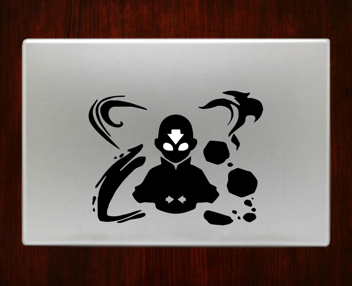 Decalontop com avatar aang 2 the last airbender macbook pro air 13 decal stickers