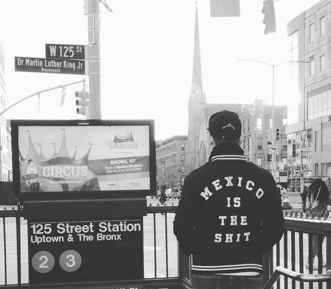 "Luis Brixner on Instagram: ""#spreadtheword #mexicoistheshit #mercadorama #anuarlayondesigner #NewYorkCity #Harlem #125ThStreet #martinlutherkingjr #Winter #Freezing…"""