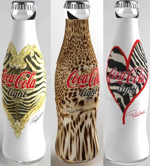 Coca-Cola Light bottles designed by Roberto Cavalli (2008)