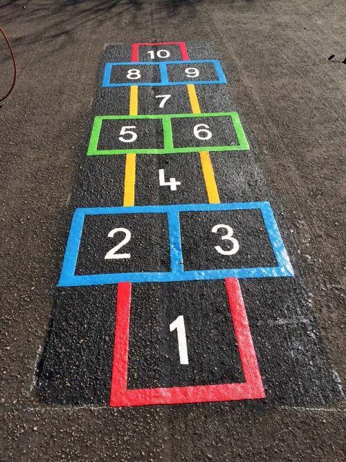 Juegos tradicionales para el patio del cole 3 - Ideas para pintar un piso ...