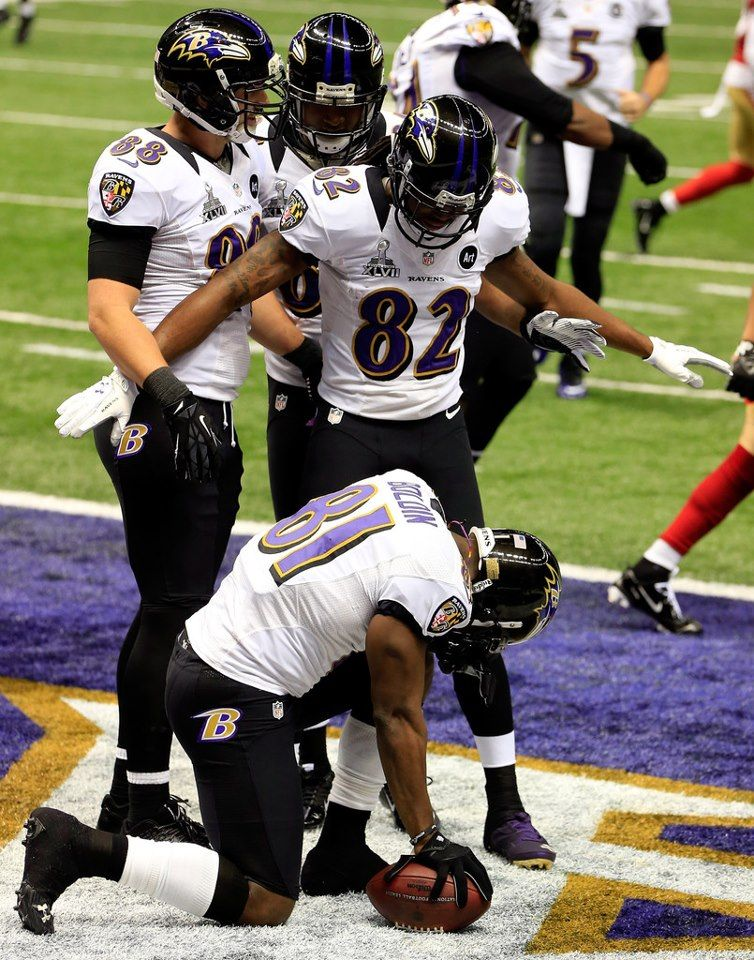 Anquan Boldin after a TD Baltimore ravens, Torrey smith