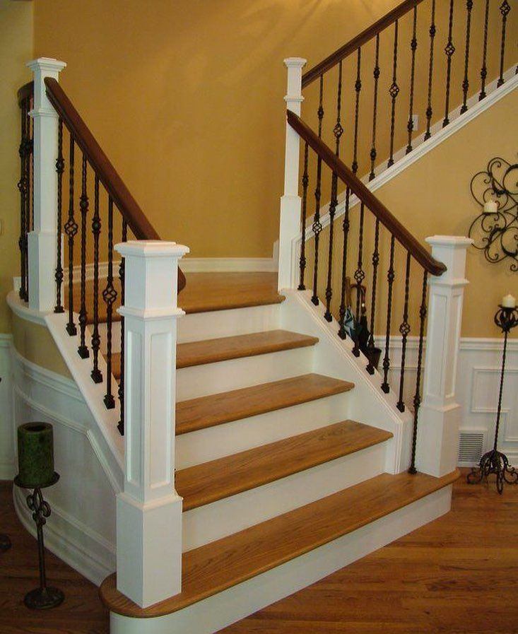 Beautiful Interior Staircase Ideas And Newel Post Designs: Pin By Stair Warehouse On Staircase