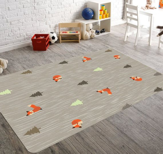 Grey Nursery Rug Style No Hp Rg 774 Details Non Woven Fabric Rounded