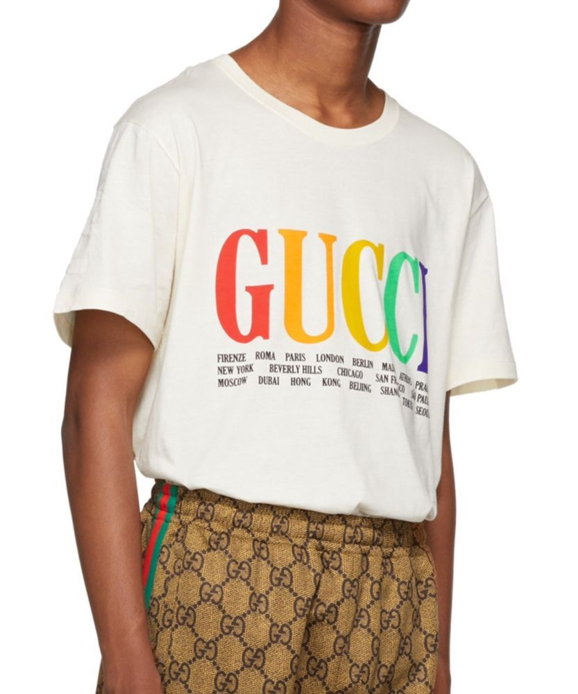1454c19f GUCCI 2018 white cities Logo oversize t-shirt man XS S M L XL XXL (eBay  Link)