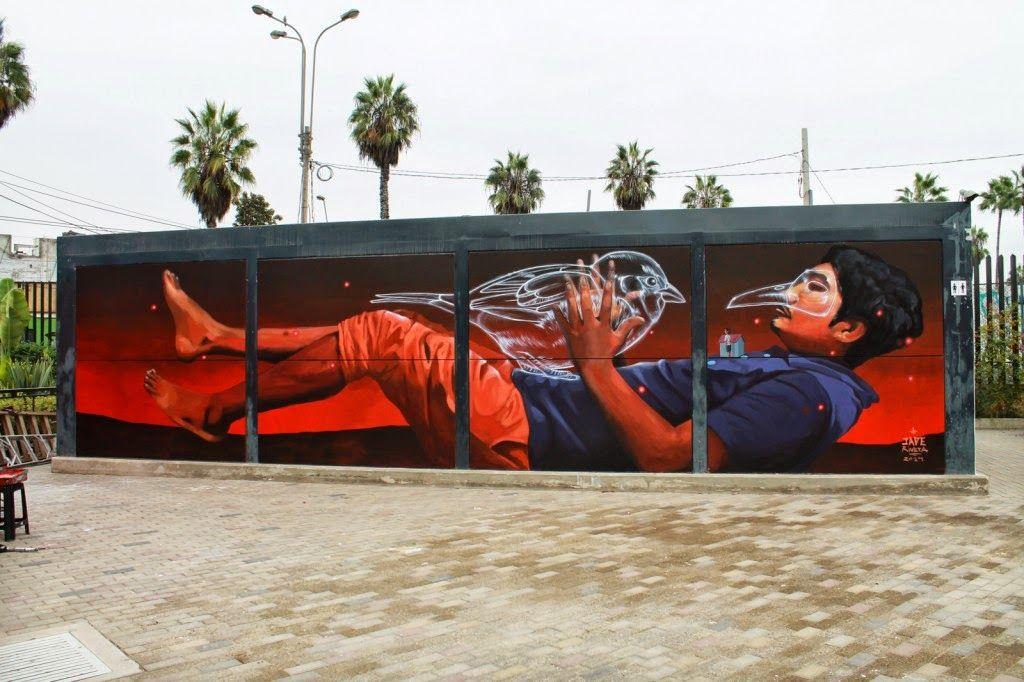 Jade Mural Museo De Arte Contemporaneo Lima Peru Walls With