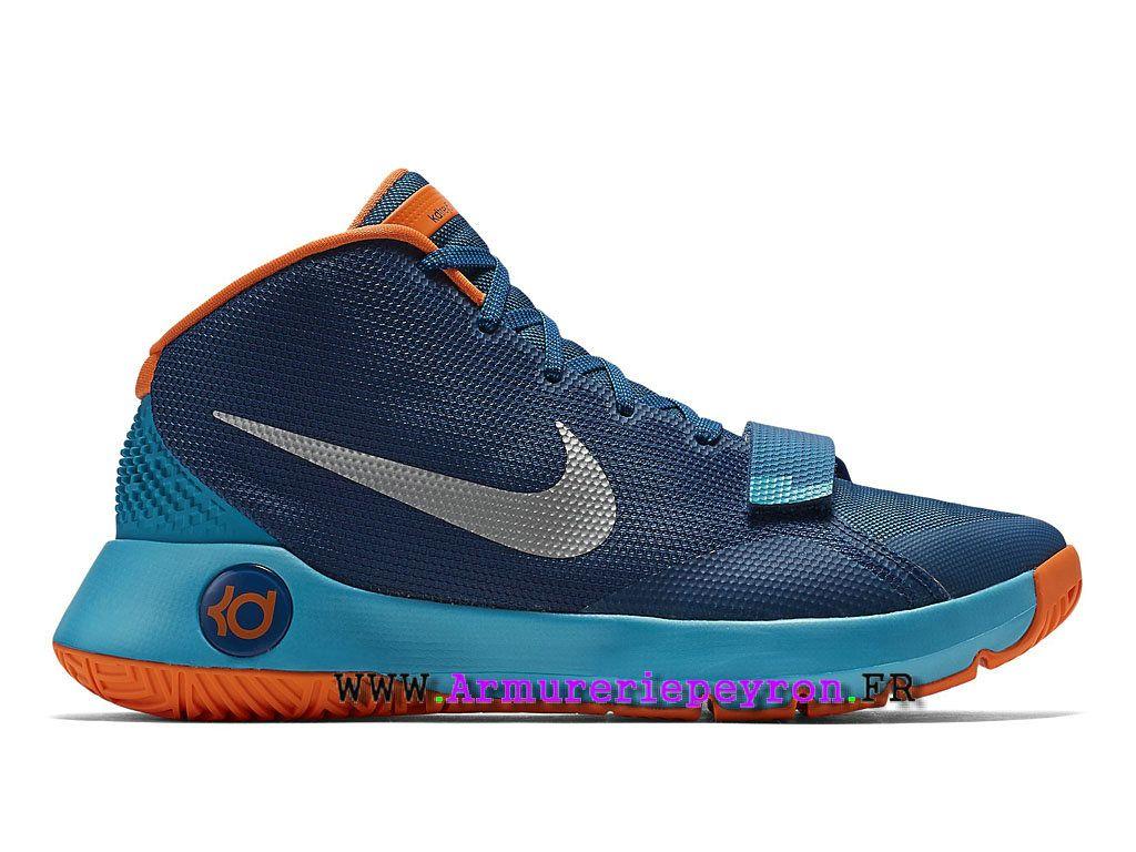 separation shoes e6685 92a9a Nike KD Trey 5 III Prix Chaussures De BasketBall Pas Cher Pour Homme  Bleu Argent Orange 749378-404