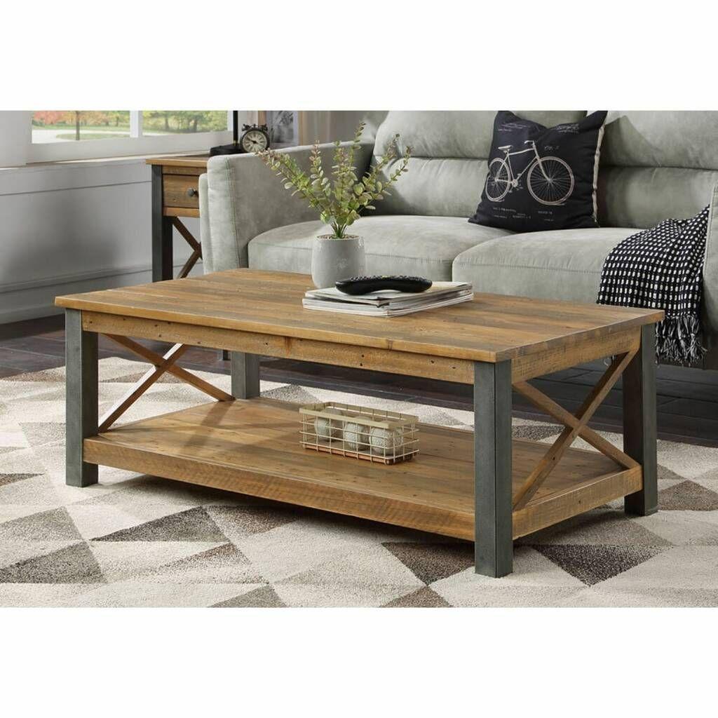 Harringay Reclaimed Wood Large Coffee Table With Shelf In 2021 Reclaimed Coffee Table Coffee Table Coffee Table With Shelf [ 1024 x 1024 Pixel ]