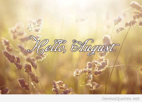 Hello August Image Picture