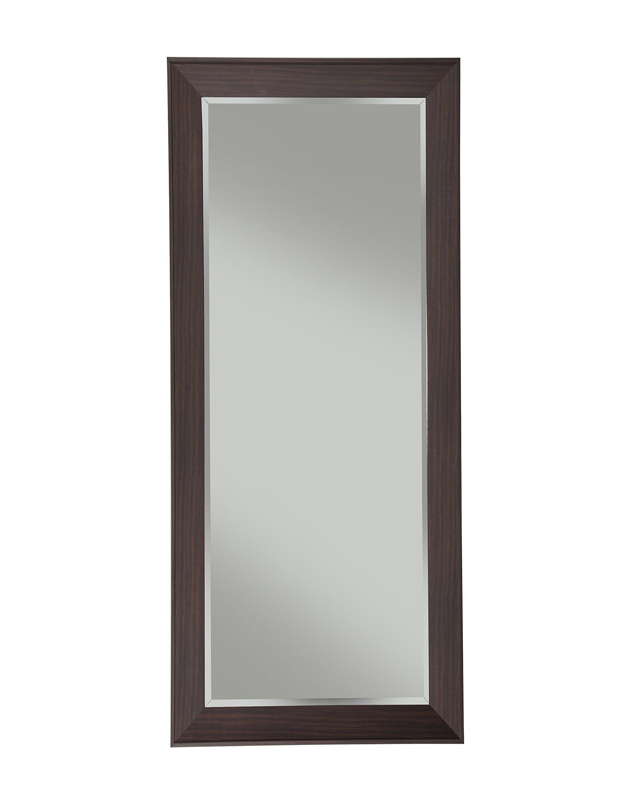 Sandberg Furniture Contemporary Full Length Leaner Mirror Espresso