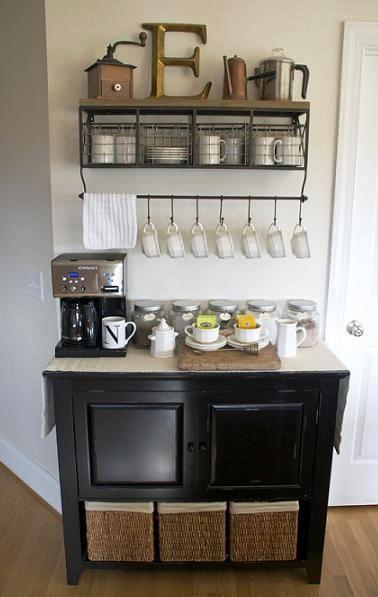DIY Home Coffee Bar Inspiration. | Great Ideas | Pinterest | Break ...