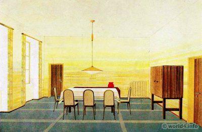 Dining Room By Wilhelm Dechert German Art Deco Interior Design Architecture Decoration