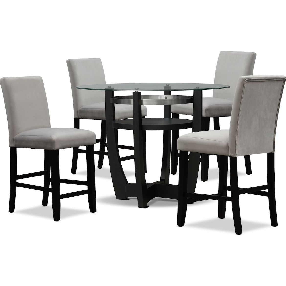 Lennox Counter Height Dining Table And 4 Stools Value City Furniture And Mattresses Counter Height Dining Table Dinning Room Decor Dining Room Sets Cheap counter height dining sets