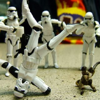 Storm trooper breakdancing
