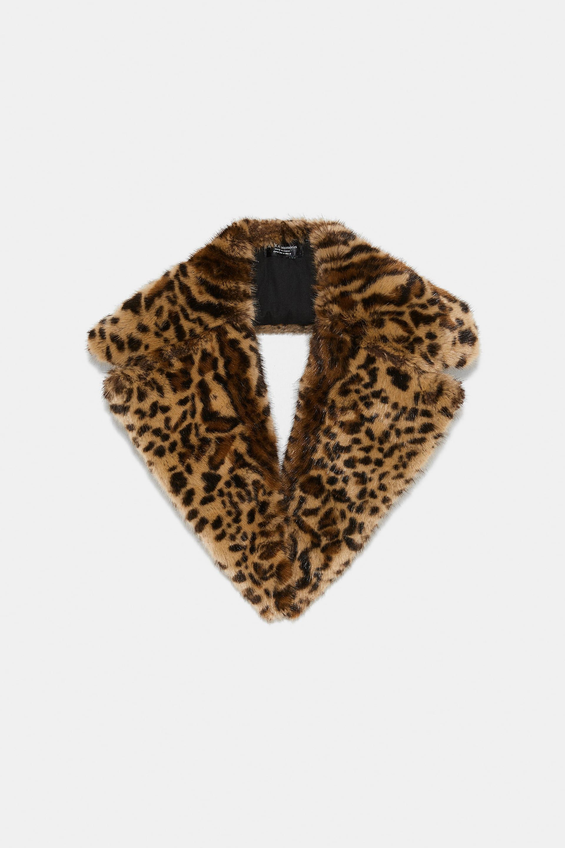 51a7a0692ca7 Faux fur animal print scarf   Clothes to the Max and also other ...