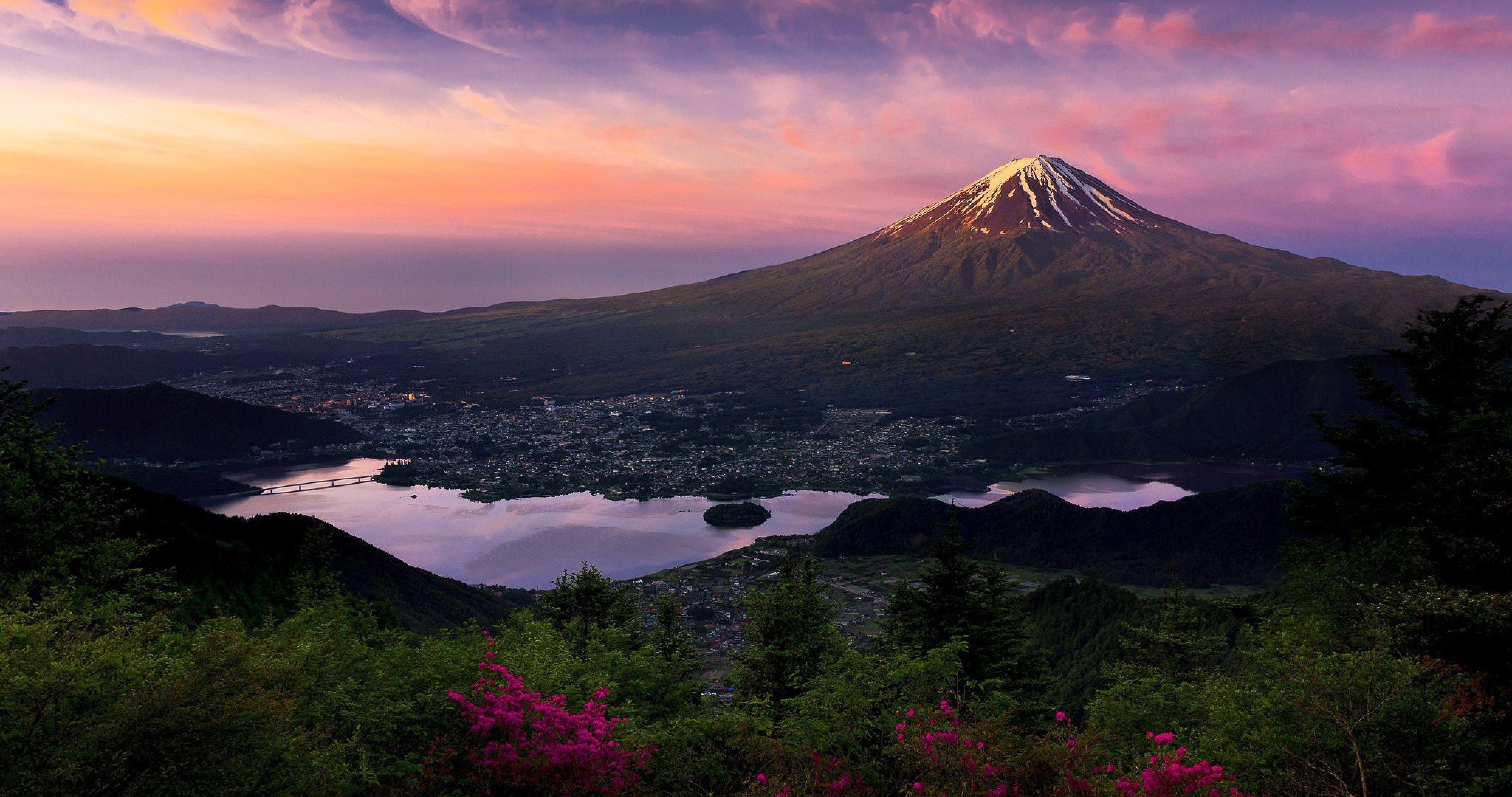Japan Honshu Island 4k Ultra Hd Wallpaper Japanese Mountains Island Wallpaper Mount Fuji
