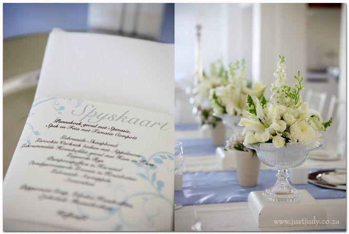 kleinvalleij wedding venue - main table set up