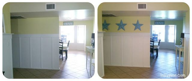 quick wall decor with tin stars | More Tin star and Wall decor ideas