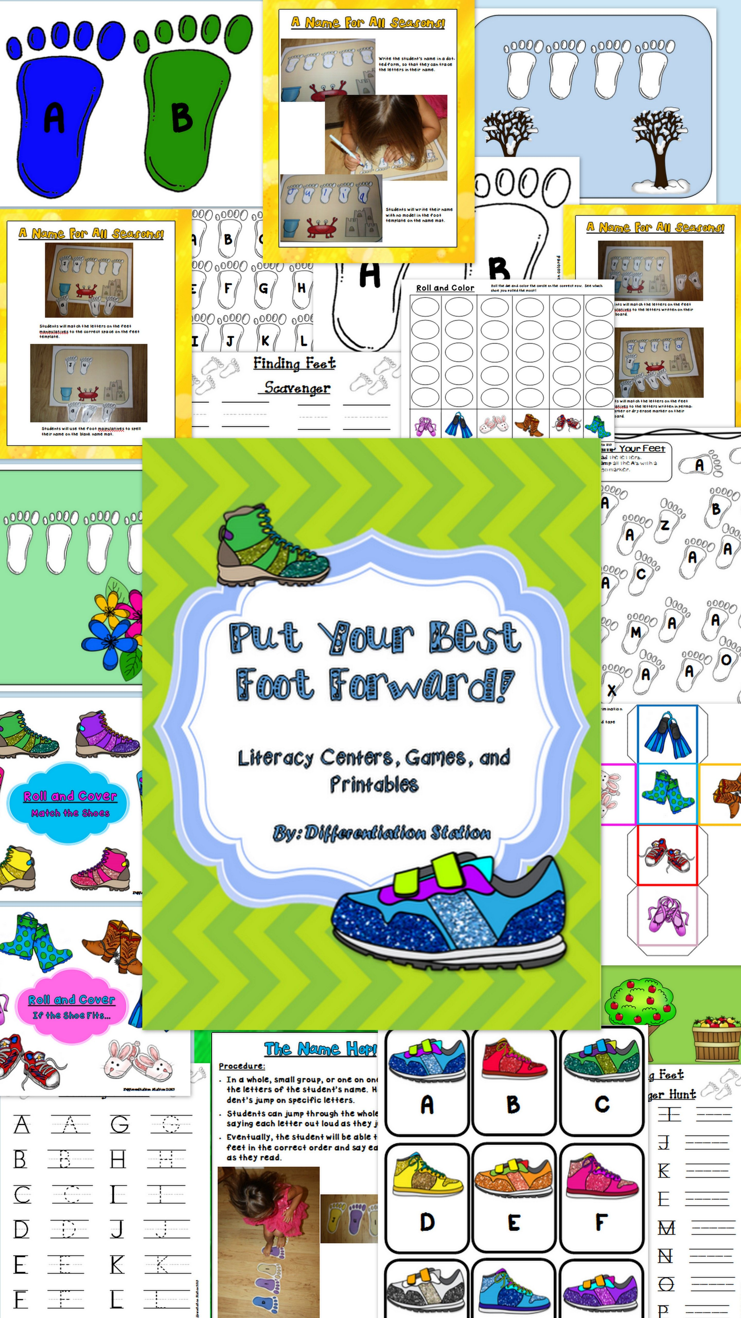Put Your Best Foot Forward Back To School Literacy Games And Printables