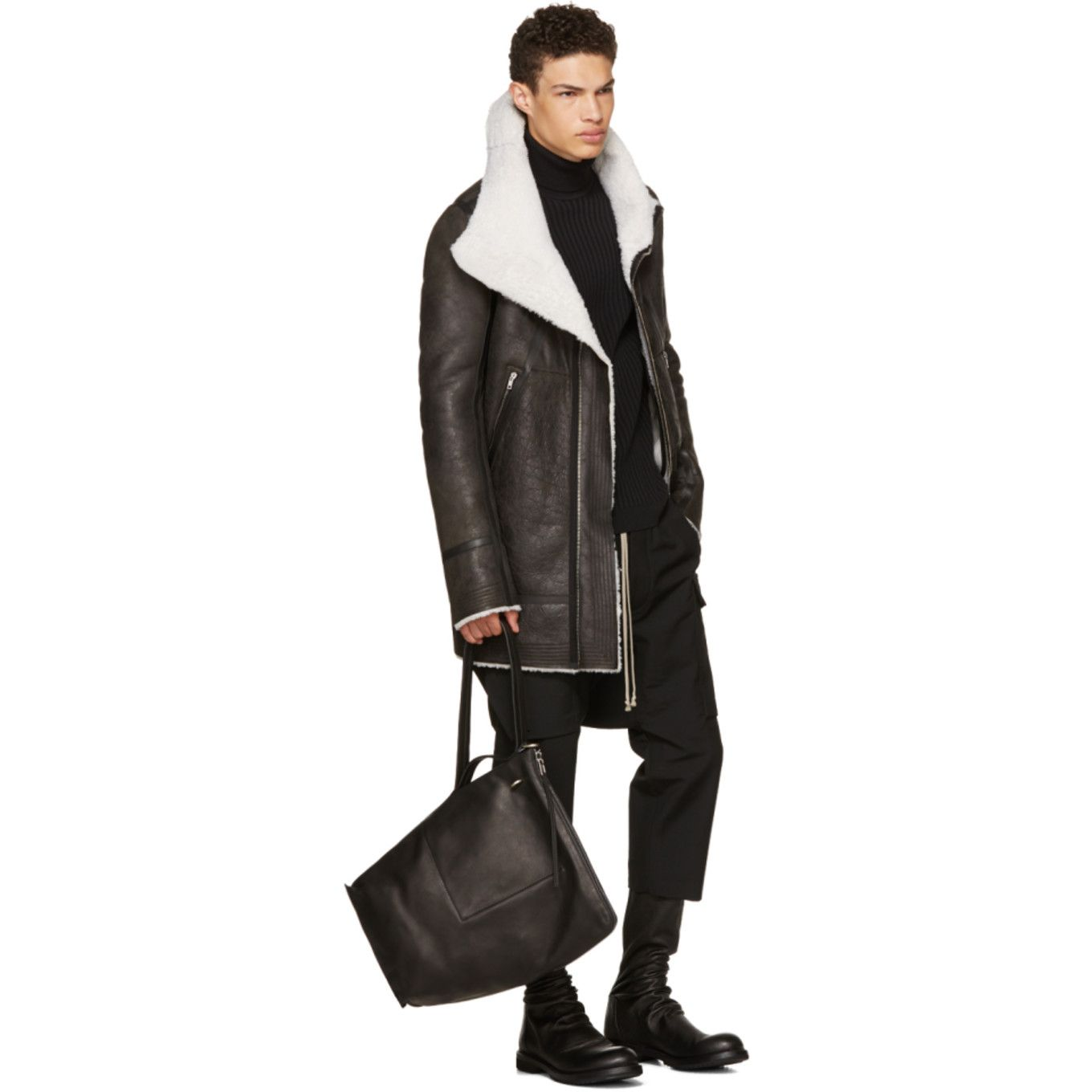 rick owens adidas for sale, Rick Owens Leather And Shearling